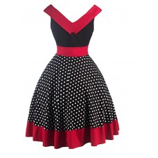 Womens Party Elegant Polka Dot Dress