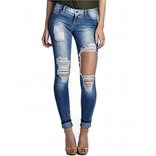 Women's Sexy Blue Jeans Pants