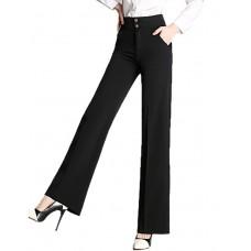 Women's Solid Bodycon Leg Trousers