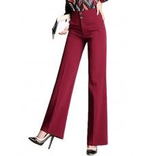 Women's Solid Color Business Pants