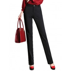 Women's Solid Black Business Pants
