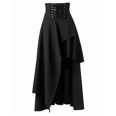 Women's Solid Black Sexy Skirts