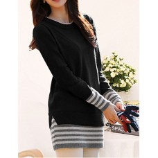 Women's Long Pullover Striped