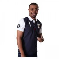 Men's Comfortable San Luis Solid Short Sleeve Navy Blue Polo Shirt