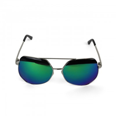 Men's UV Protected Ocean-Blue Mirrored Aviator Sunglasses
