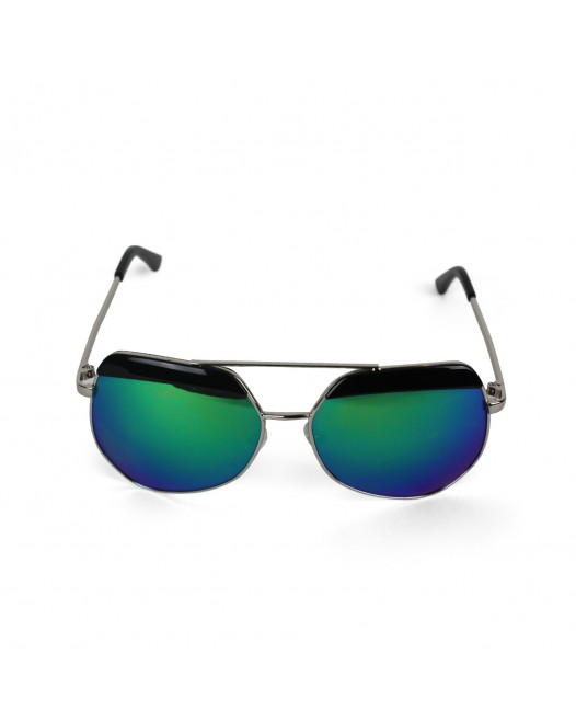 Men's UV Protected Ocean-Blue Mirrored Aviator Sunglasses