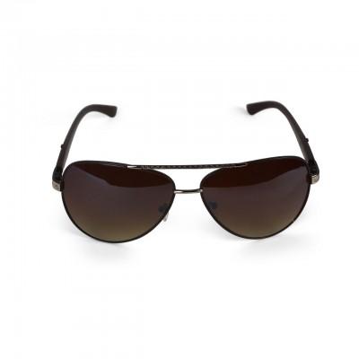 Unisex Polarized Coffee Tinted Aviator Sunglasses