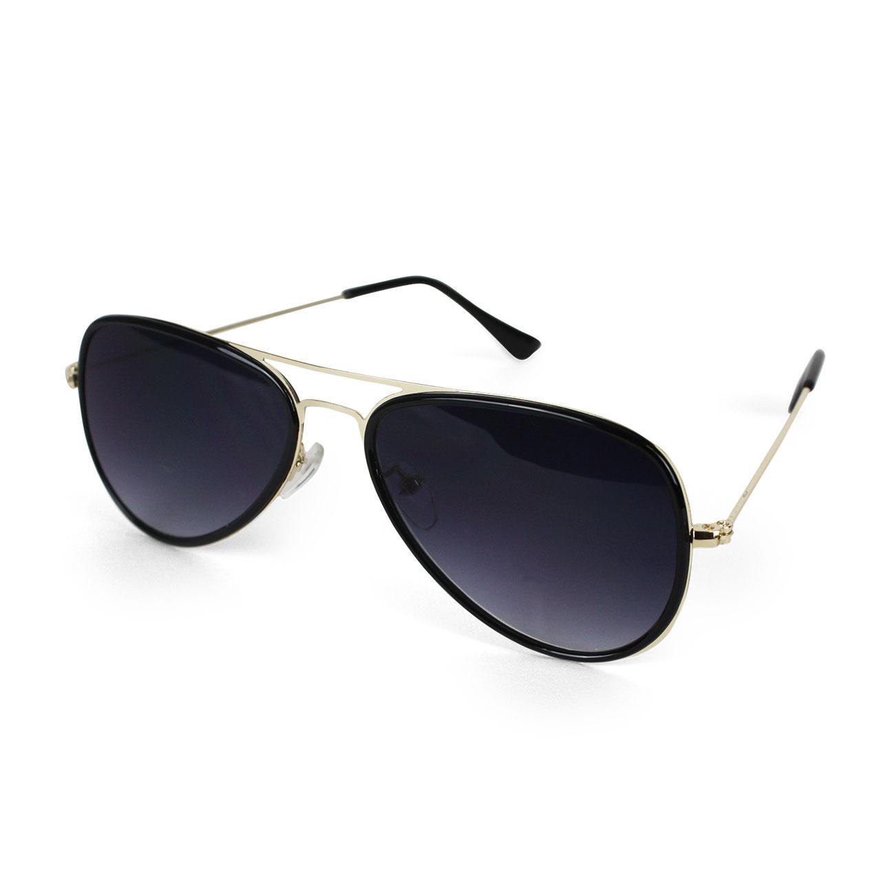 Unisex Polarized Night Black Sky Aviator Sunglasses