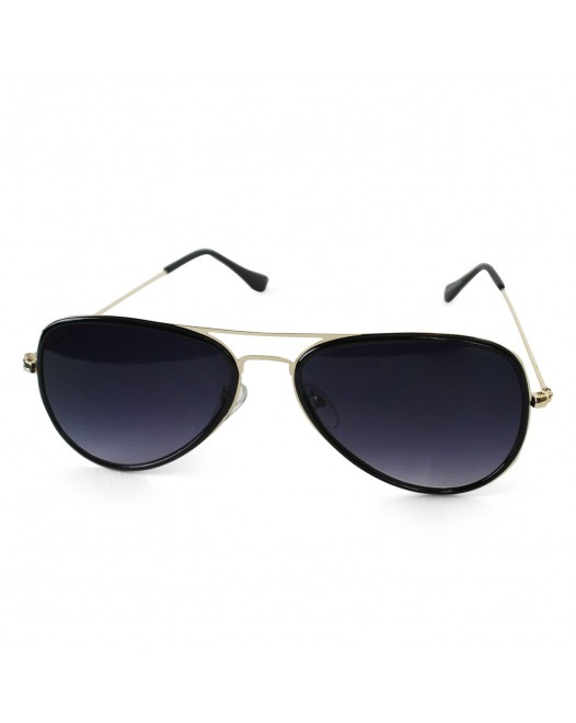Unisex Polarized Night Black Sky Aviator Sunglasses