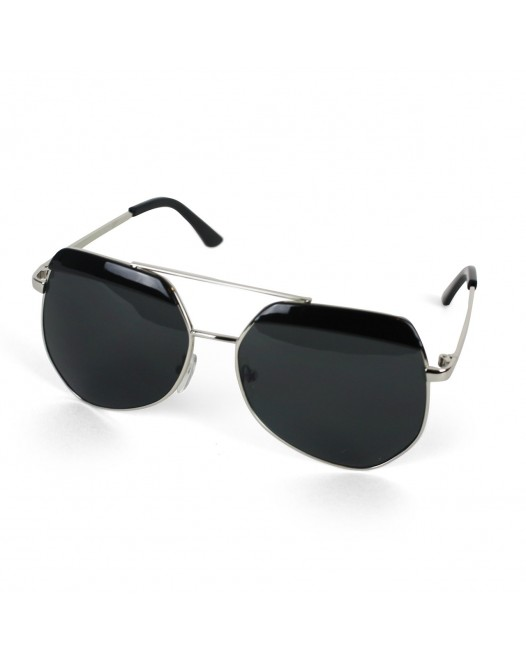 Men's UV Protected Black Tinted Aviator Sunglasses