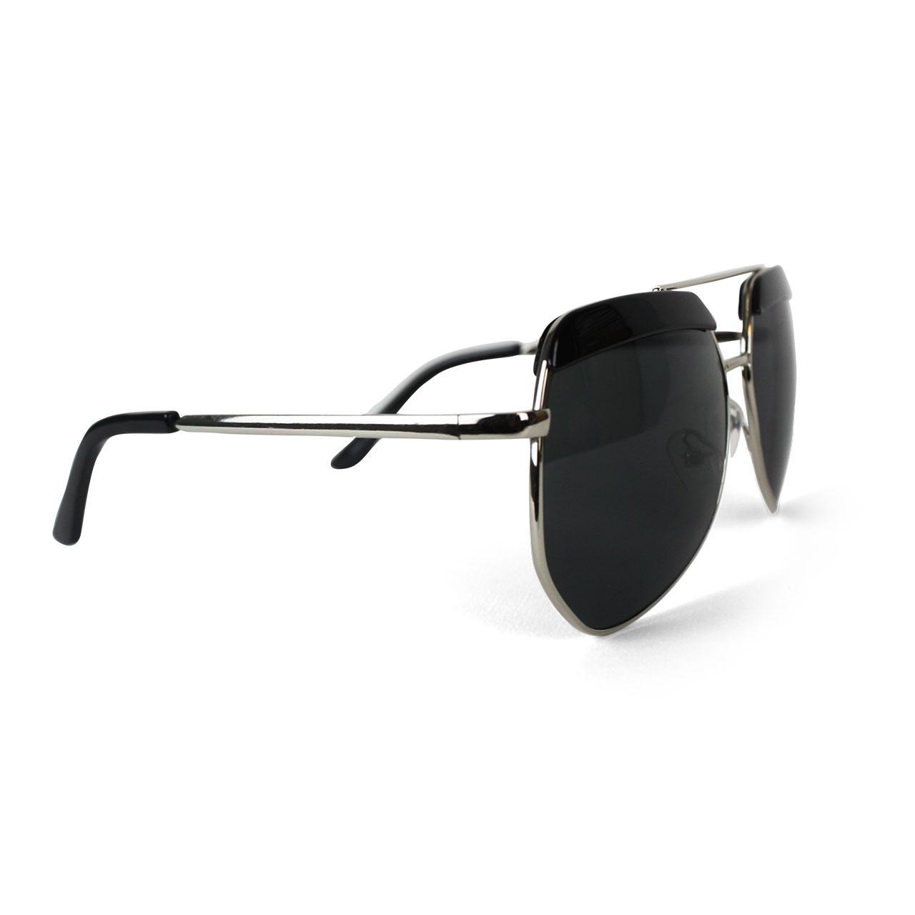 Men's UV Protected Black Tinted Aviator Sunglasses