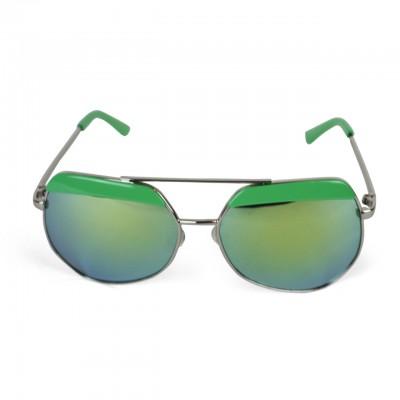 Men's Polaroid Aviator Tropical Green Texture Sunglasses