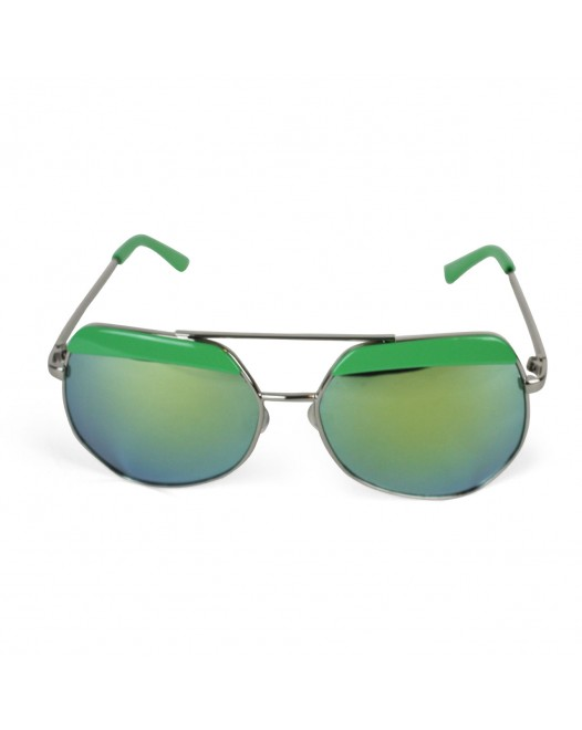 Men's Polaroid Aviator Tropical Green Texture Sunglasses