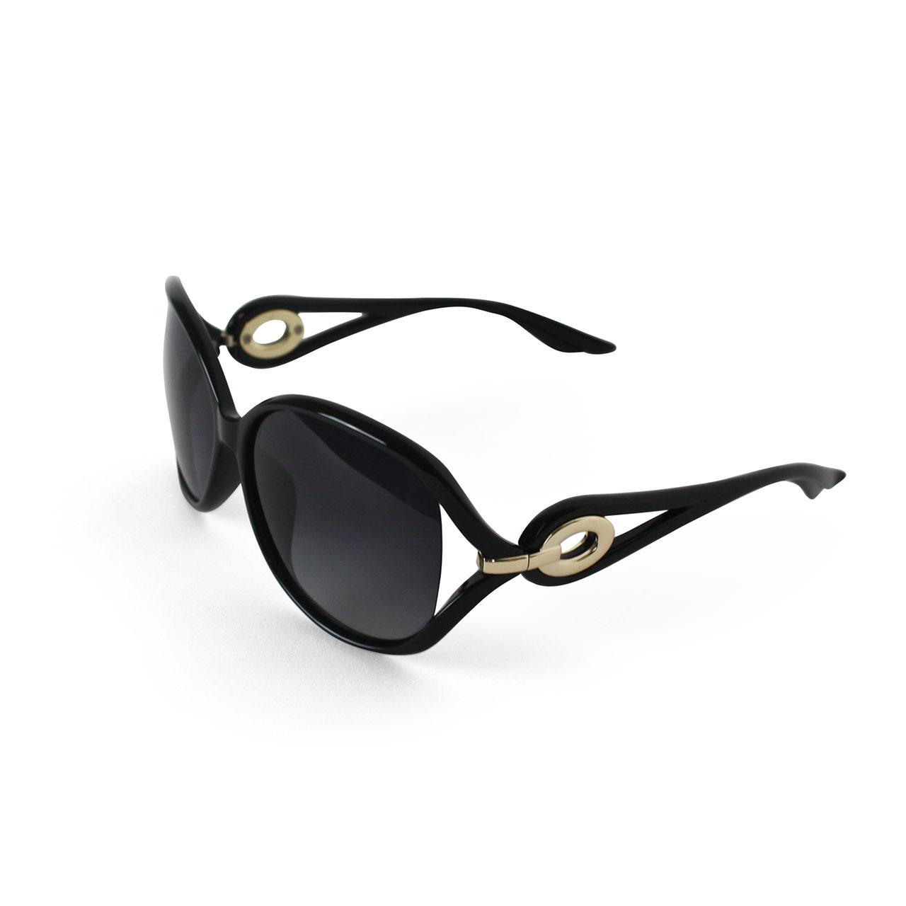 Women Polarized Black Cat-Eye Designer Sunglasses