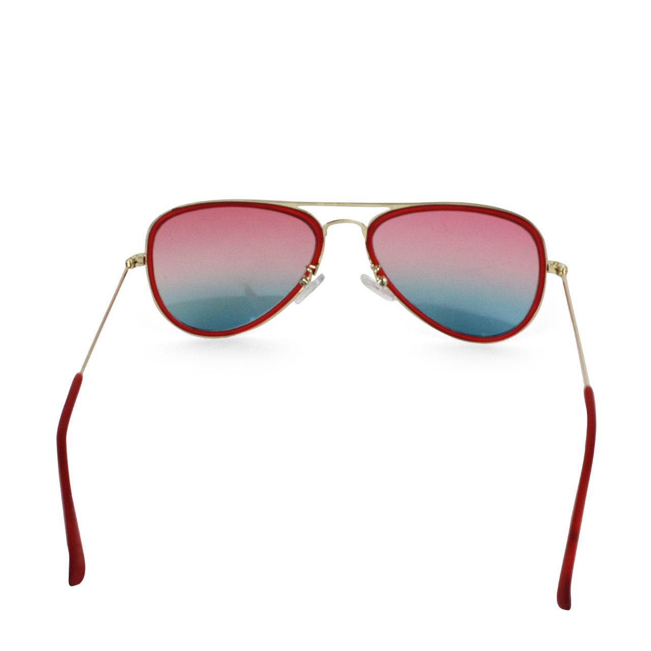 Red Framed Full-Rimmed Aviator Crimson Polarized Unisex Sunglasses