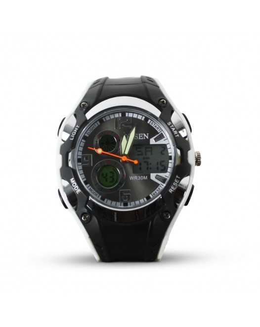 Men's Digital OHSEN Quartz WR30M LED Display Sport Waterproof Wristwatch