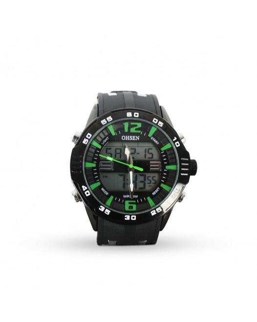 Men's Sport OHSEN AD2813 Big Dial Back Light Date Quartz Wristwatch