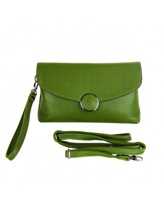 Quality Leather Green Crossbody Bag With Strap For Women