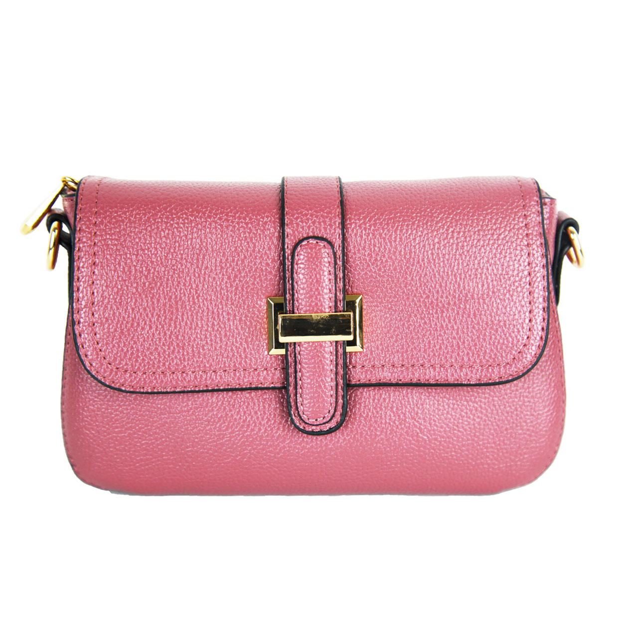Leather Mini Clutch Cross Body Bag For Women