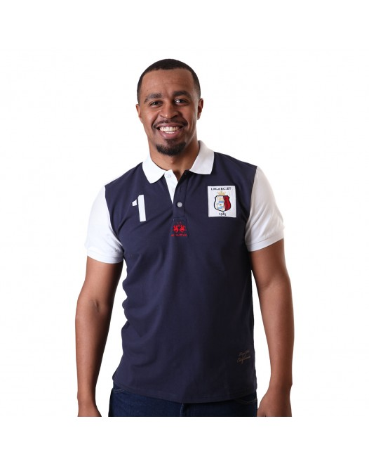 Men's Solid San Luis Comfortable Short Sleeve Navy Blue Polo Shirt