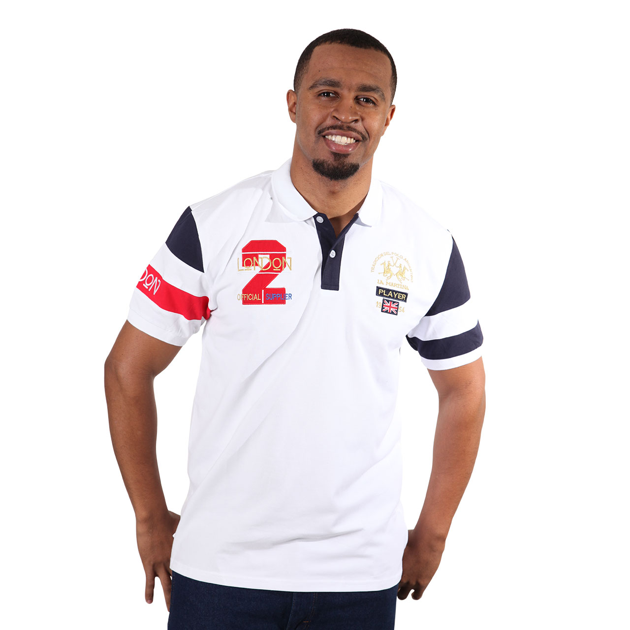 Men's Trendy White Polo Collar Shirt With Short Sleeve