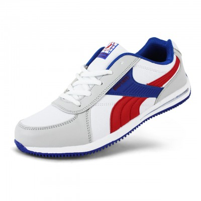 Men's Athletic Comfort Leatherette Shoes - White