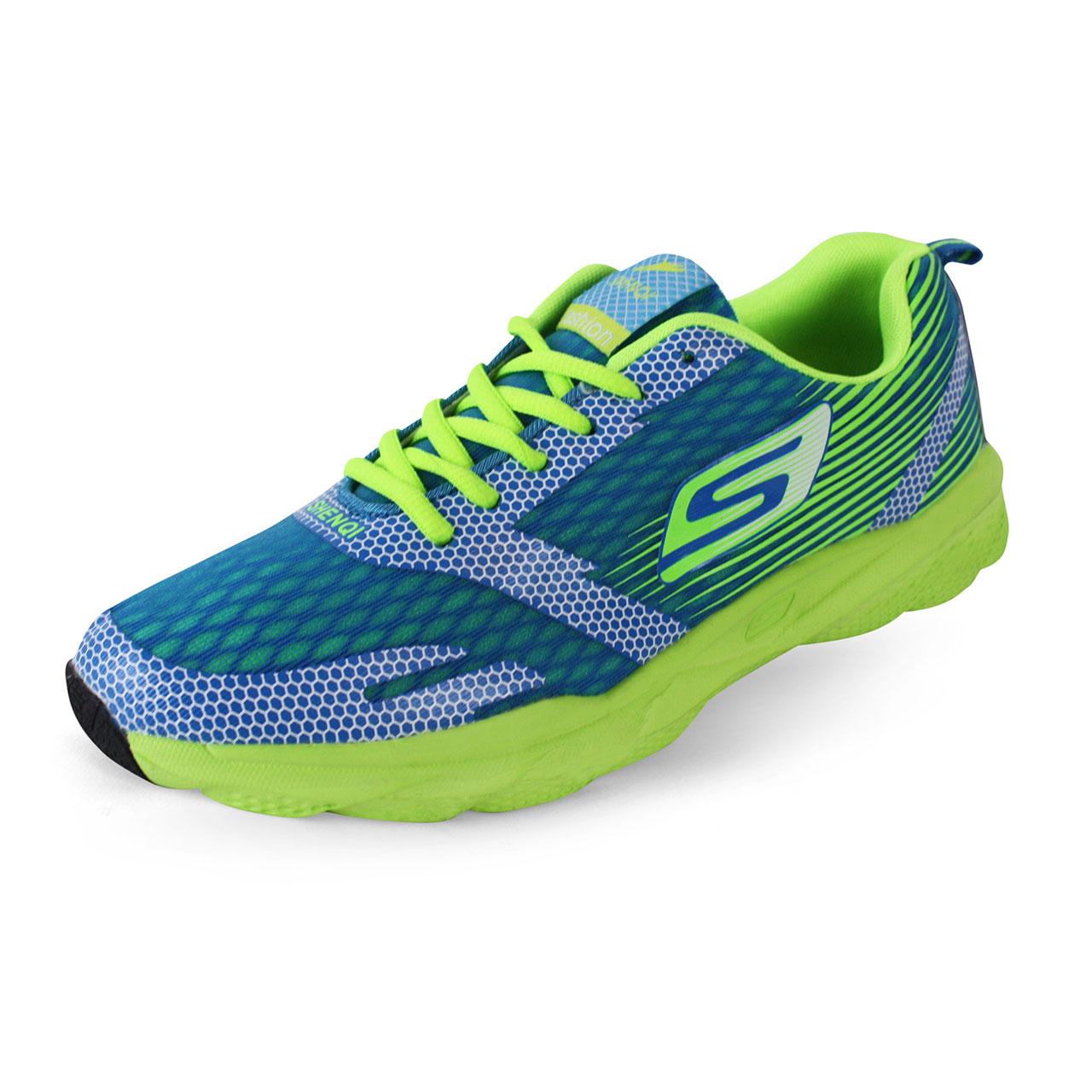 Men's Air Mesh Breathable Cushioning Shoes Blue/Green