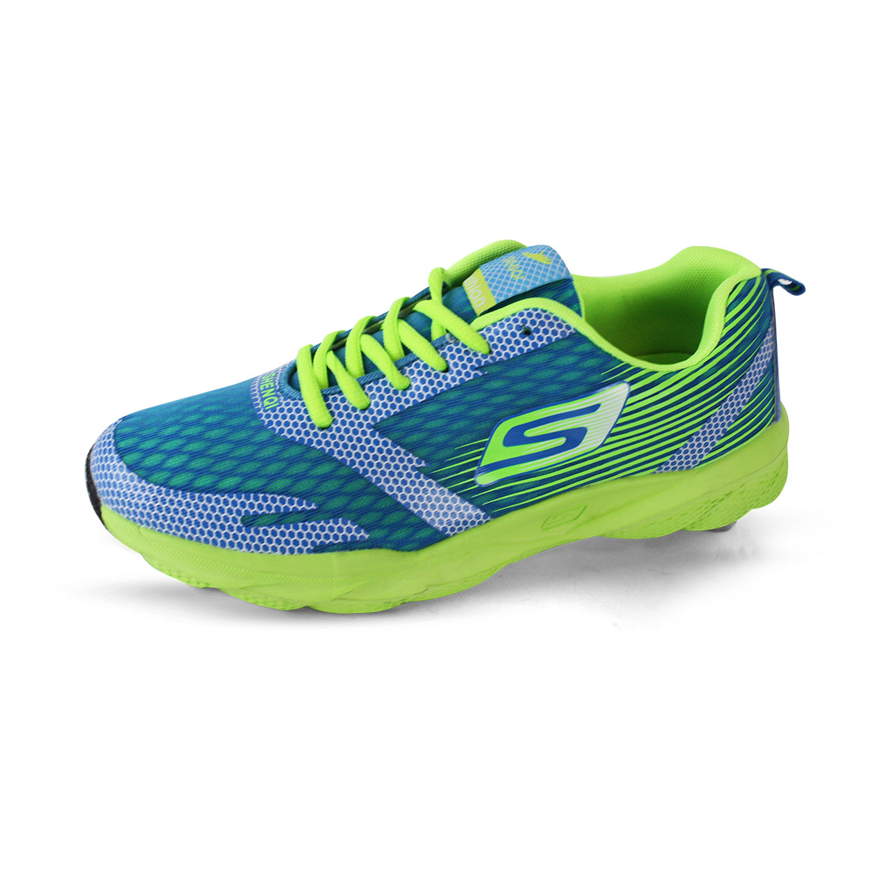 Men's Air Mesh Breathable Cushioning Shoes Blue/Green