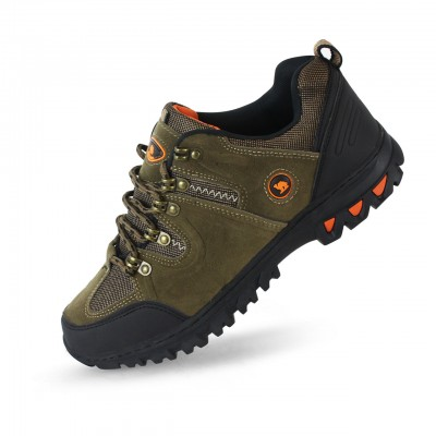 Men's Peanut Brown Athletic Suede Outdoor Shoes