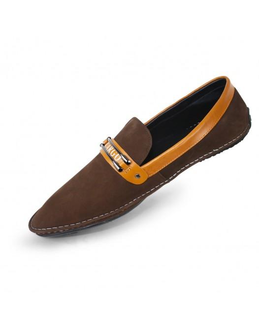 Men's Premium Leather Breathable Slip On Bit Loafer Shoes