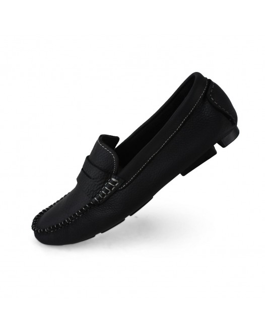 Men's Boat Fall Suede Casual Flat Heel Shoes Slip On Penny Loafers