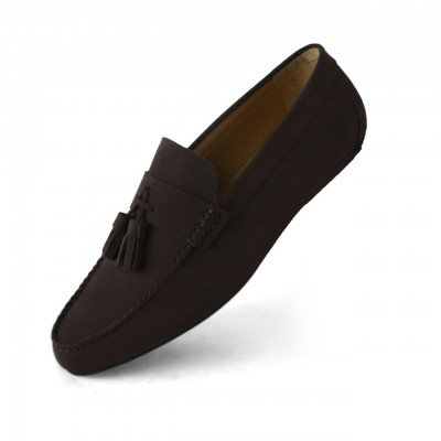 Men's Shoes Suede Comfort Slip On Kiltie Loafers
