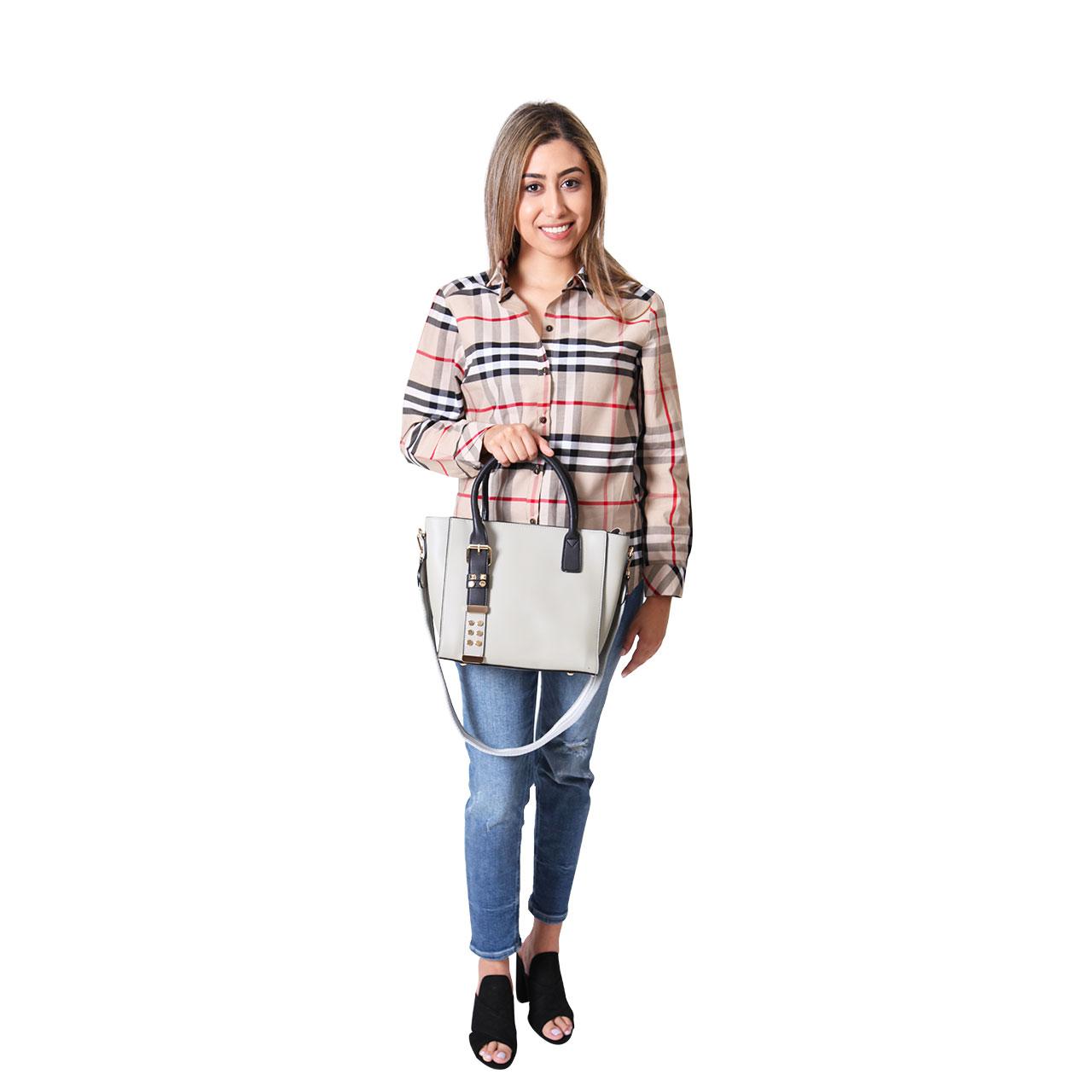 Women Multi-Color Plaid Flannel Long Sleeve Top Shirt