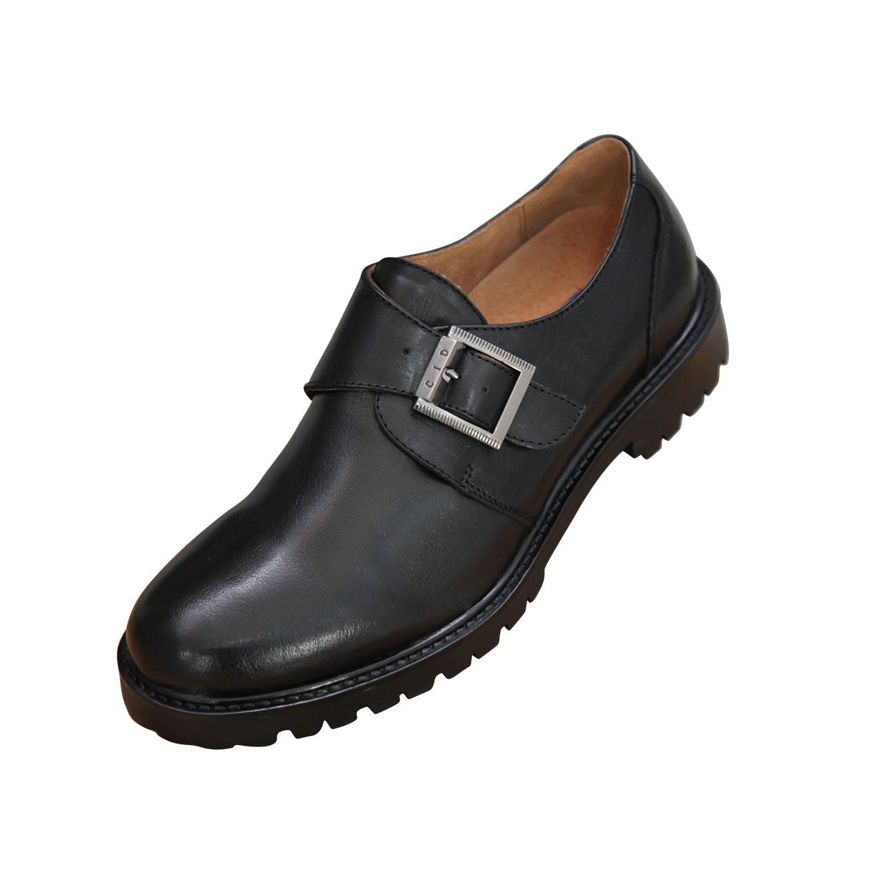 Men's Office Single Monk Strap Genuine Leather Closed Toe Black Shoes