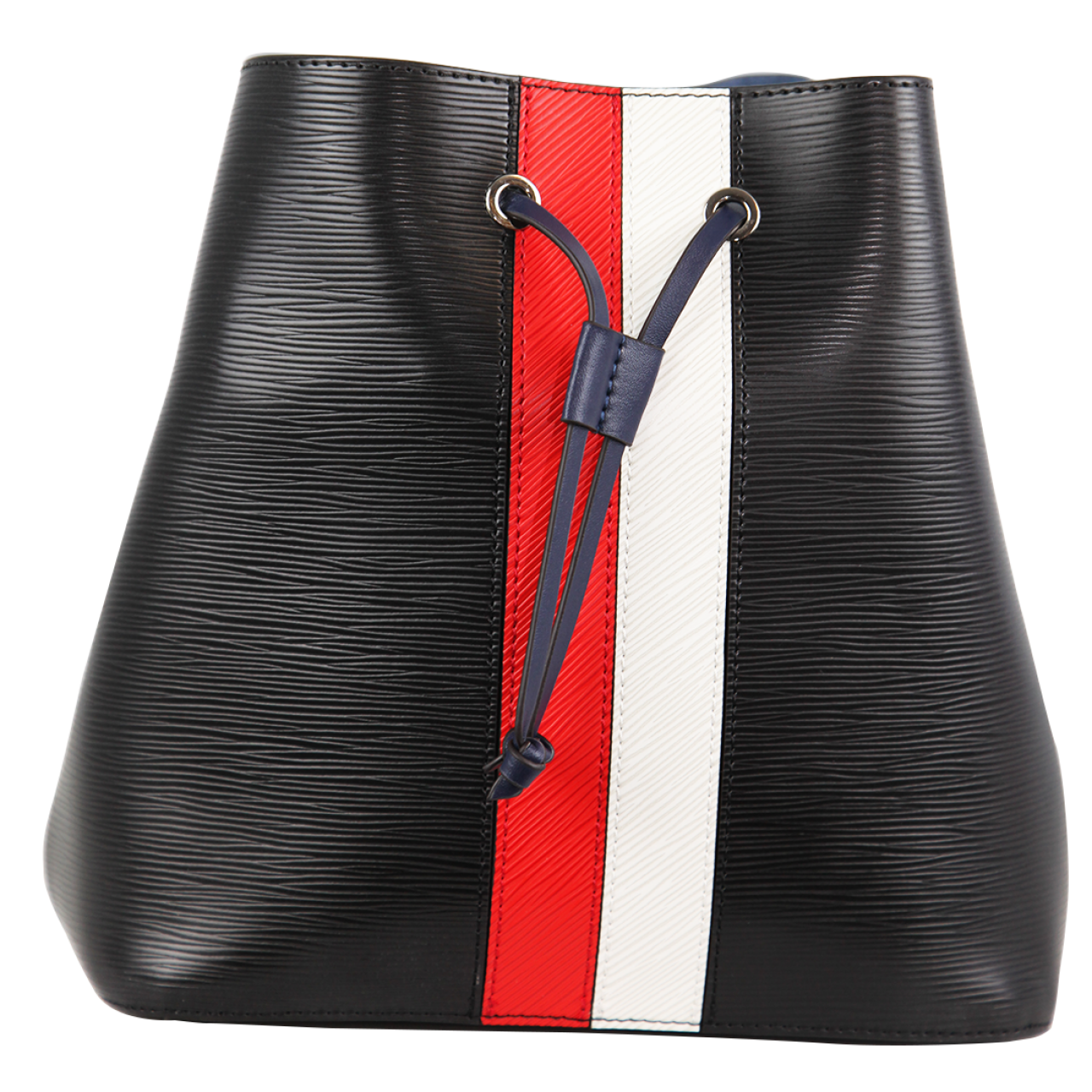 Zeekas Stylish Solid Black With Red And White Bucket Tote Sling Bag For Women
