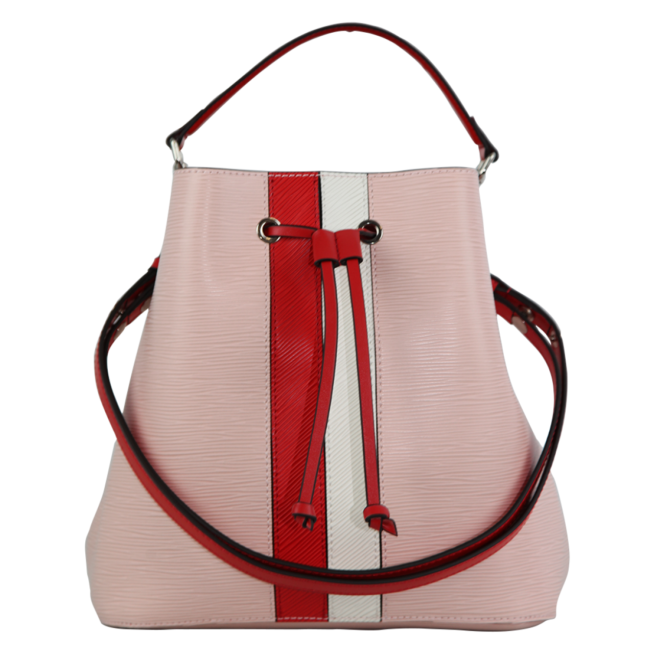 Zeekas Stylish Solid Pink With Red And White Bucket Tote Sling Bag For Women