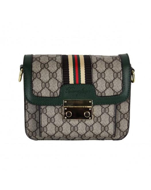 Messenger Leather Shoulder Bag With Chain And Shoulder Straps For Women