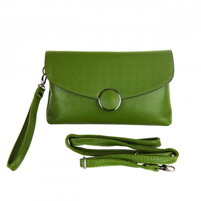 Quality Leather Green Cross body Bag For Women
