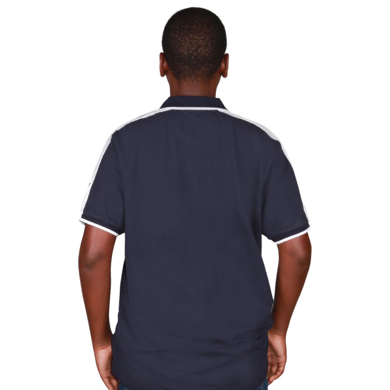 Zeekas Hechter World Tour Overseas Championship Navy Blue Short Sleeve Polo Shirt For Men