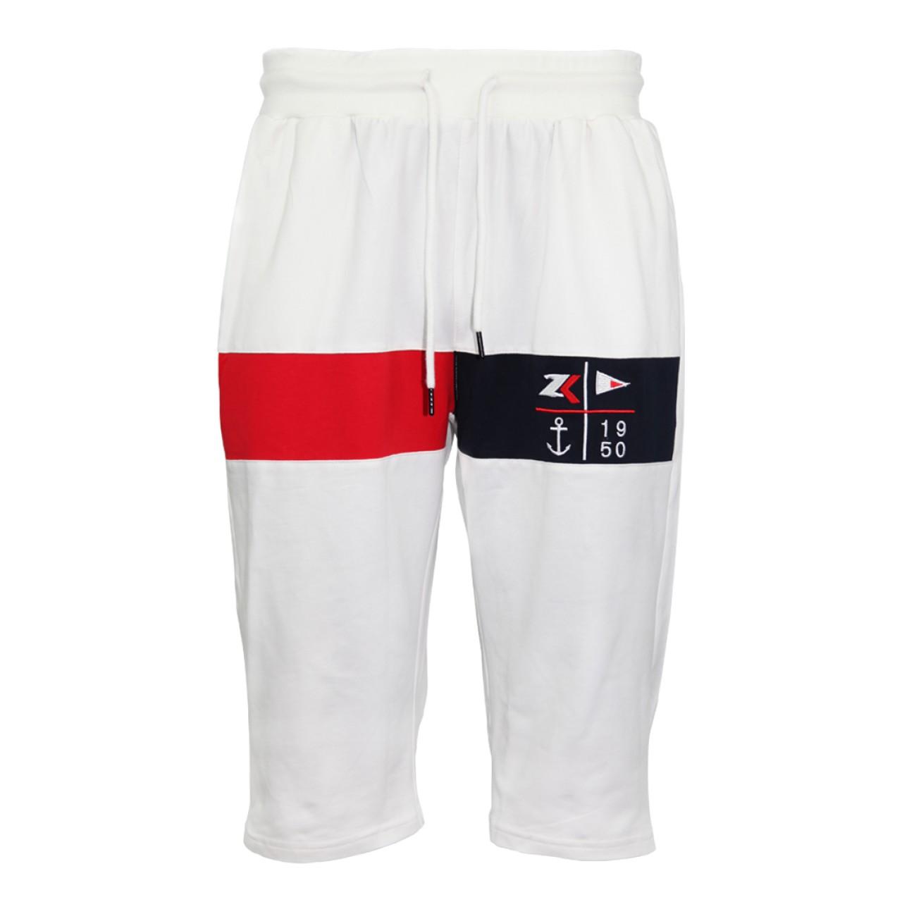 Zeekas White Polo Shirt Mens Short Sleeve With Bottom Set