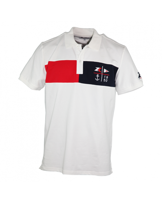 Zeekas Men's Short Sleeve White Polo Shirt With Bottom Set