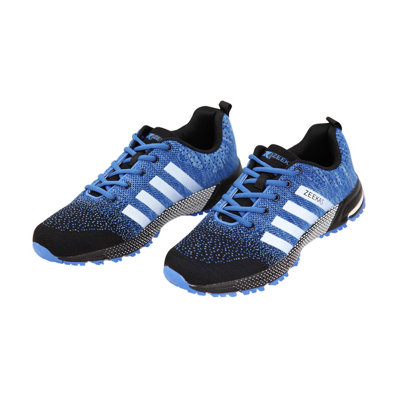 Zeekas Men Lace Up Sports Running Shoes - Blue
