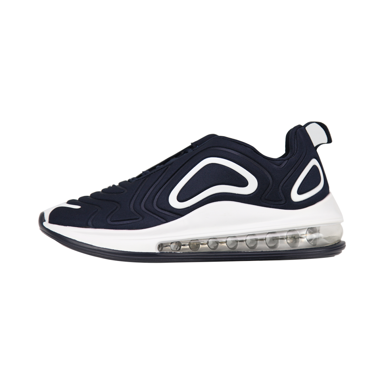 Zeekas Men's Air Max Textured Lace-Up Navy Blue Sneakers / Sports Shoes