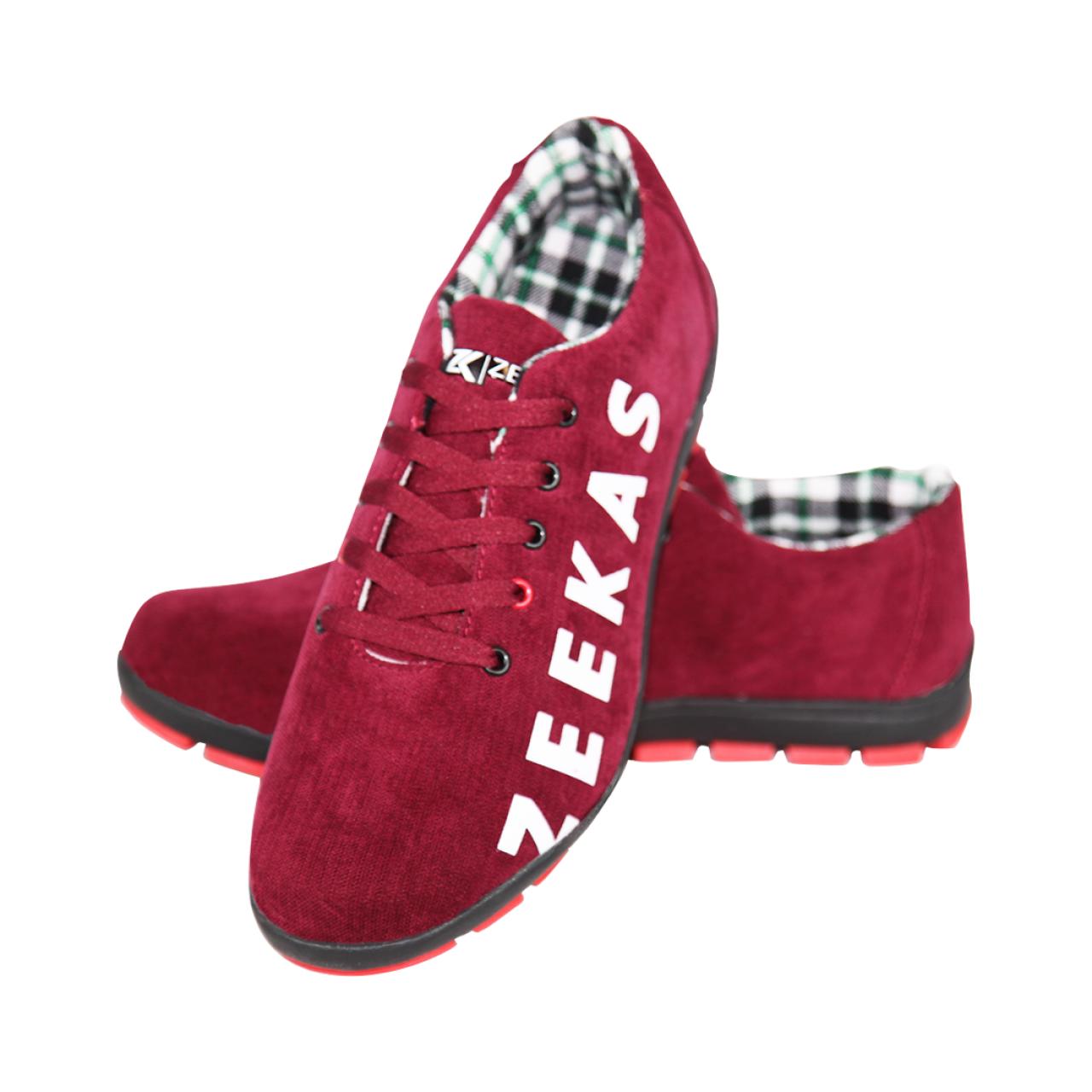 Zeekas Men Lace Up Cross Trainers Sneakers Shoes - Maroon / Red