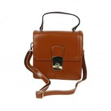 Brown clutch sling side bags