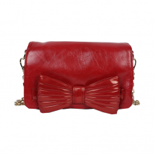 Elegant Red Bow Hand Purse