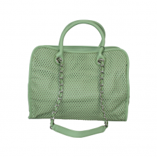 Designed Tote Light Green Handbag