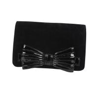Black super clutch Long Wallet