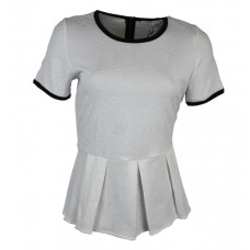 Womens Short Sleeve Peplum Shirt