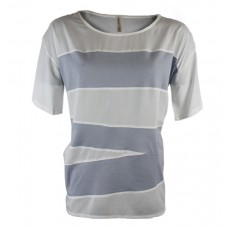 Solid Ash Grey Round Neck T-Shirt- Women's